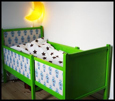 Den grønne robot-seng