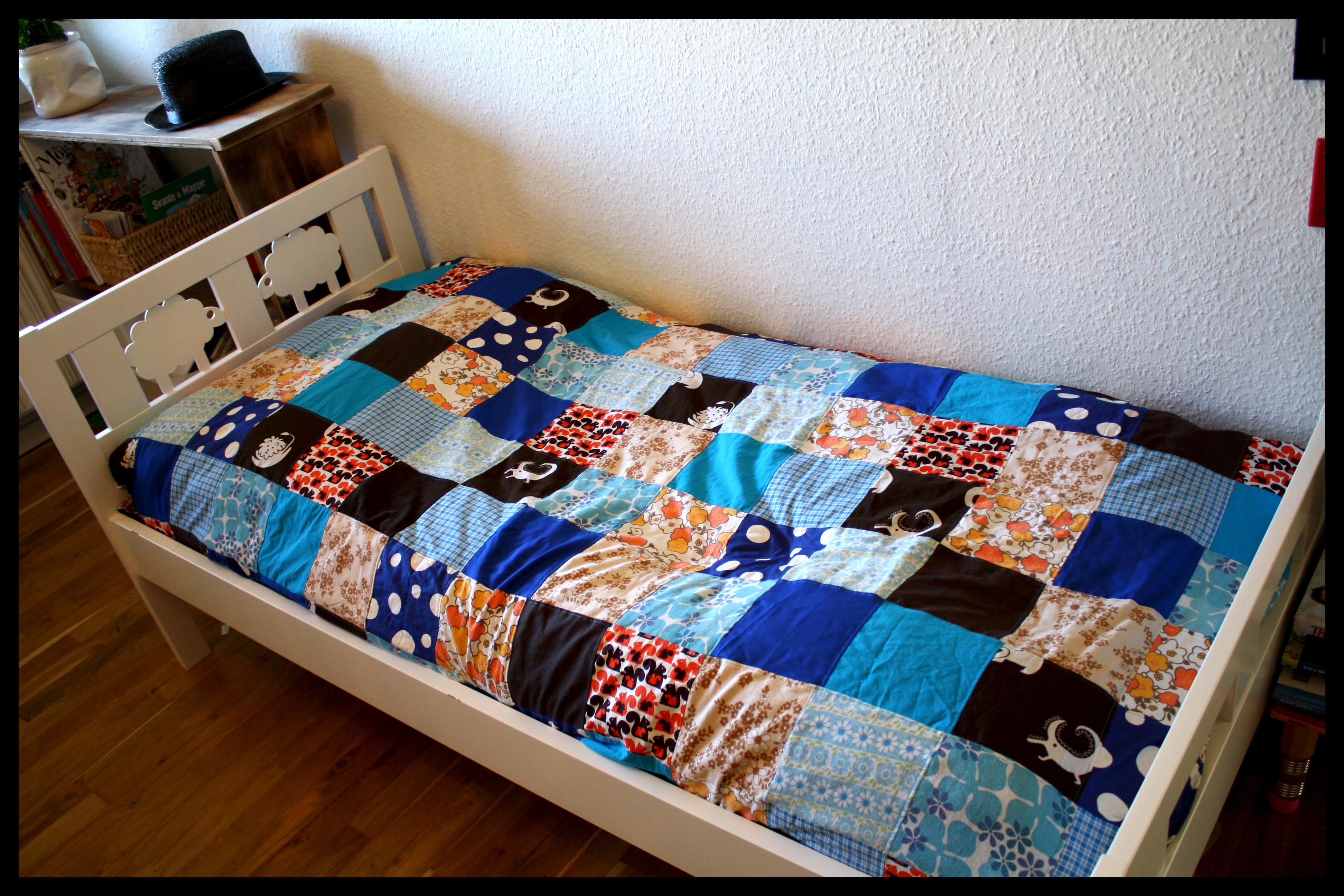Fantastisk Blåt sengetæppe | kontrastART PF74