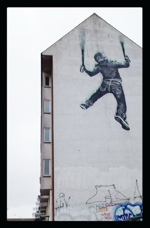 Graffitist i frit fald