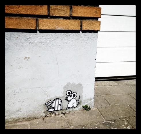 Streetart - Husmus i Malling