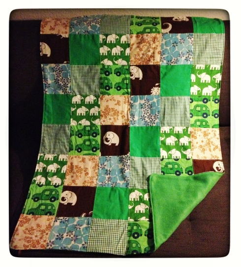 Grønt babytæppe