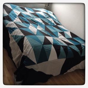 Patchwork sengetæppe
